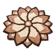 Ковер цветок из меха А398