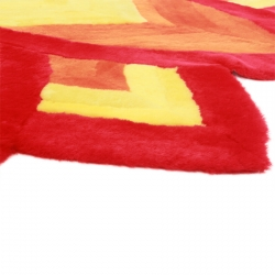 Цветной ковер из шкуры А347