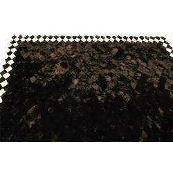 Черный ковер из меха А108