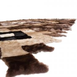 Теплый ковер из овчины А156