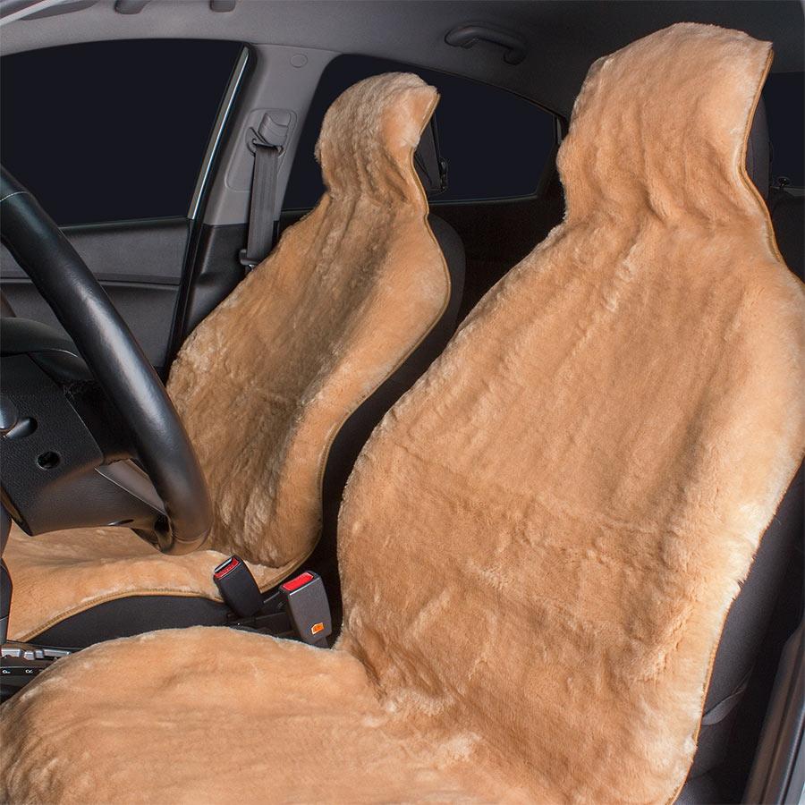 Накидка на сиденье автомобиля из искусственного меха своими руками