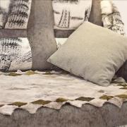 Меховая накидка на диван А904