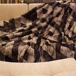Покрывало из меха на диван А224