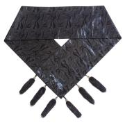 Черный шарф А4604