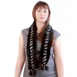 Норковый шарф А4610
