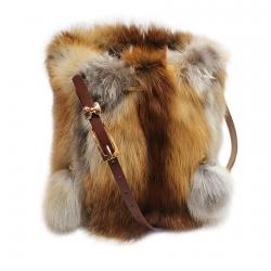 Меховая сумка из лисы А1054