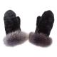 Меховые рукавицы из овчины А4265