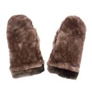 Теплые рукавицы из мутона А4266